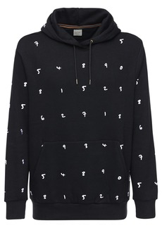 Paul Smith Embroidered Cotton Blend Jersey Hoodie