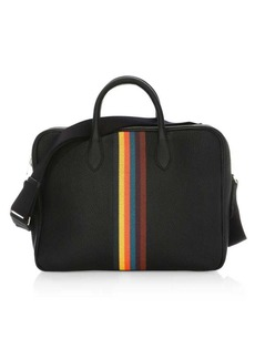 Paul Smith Embroidered Stripe Leather Briefcase