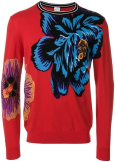 Paul Smith floral round neck jumper
