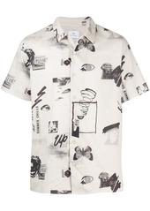 Paul Smith graphic print shirtsleeved shirt