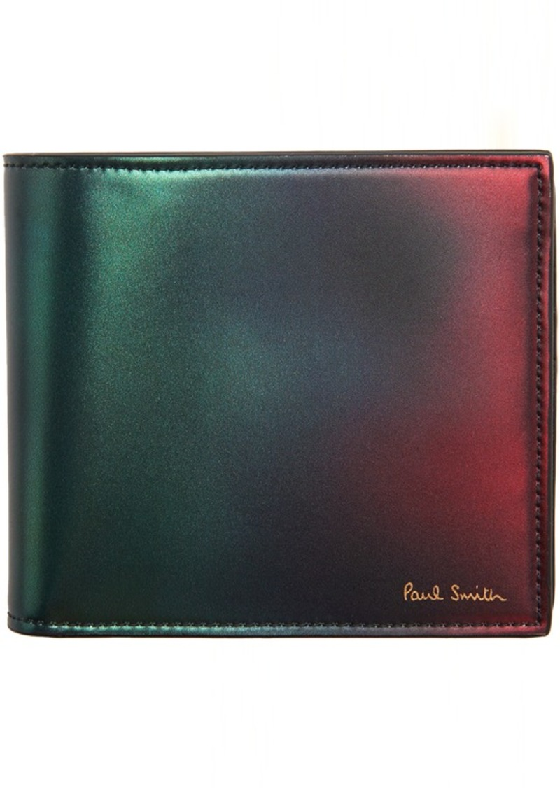 Paul Smith Green & Red Gradient Billfold Wallet