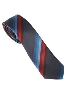 Paul Smith Green Tie With Vertical Stripes