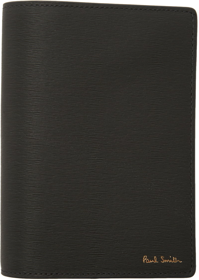 Paul Smith Grey Straw Grain Passport Holder