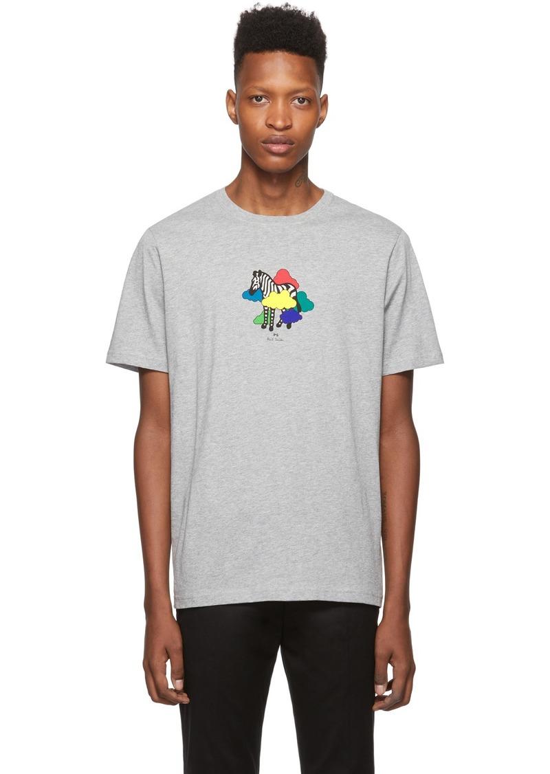 Paul Smith Grey Zebra Cloud T-Shirt