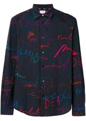 Paul Smith 'Ideas Script' print shirt