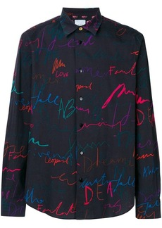 Paul Smith 'Ideas Script' print shirt