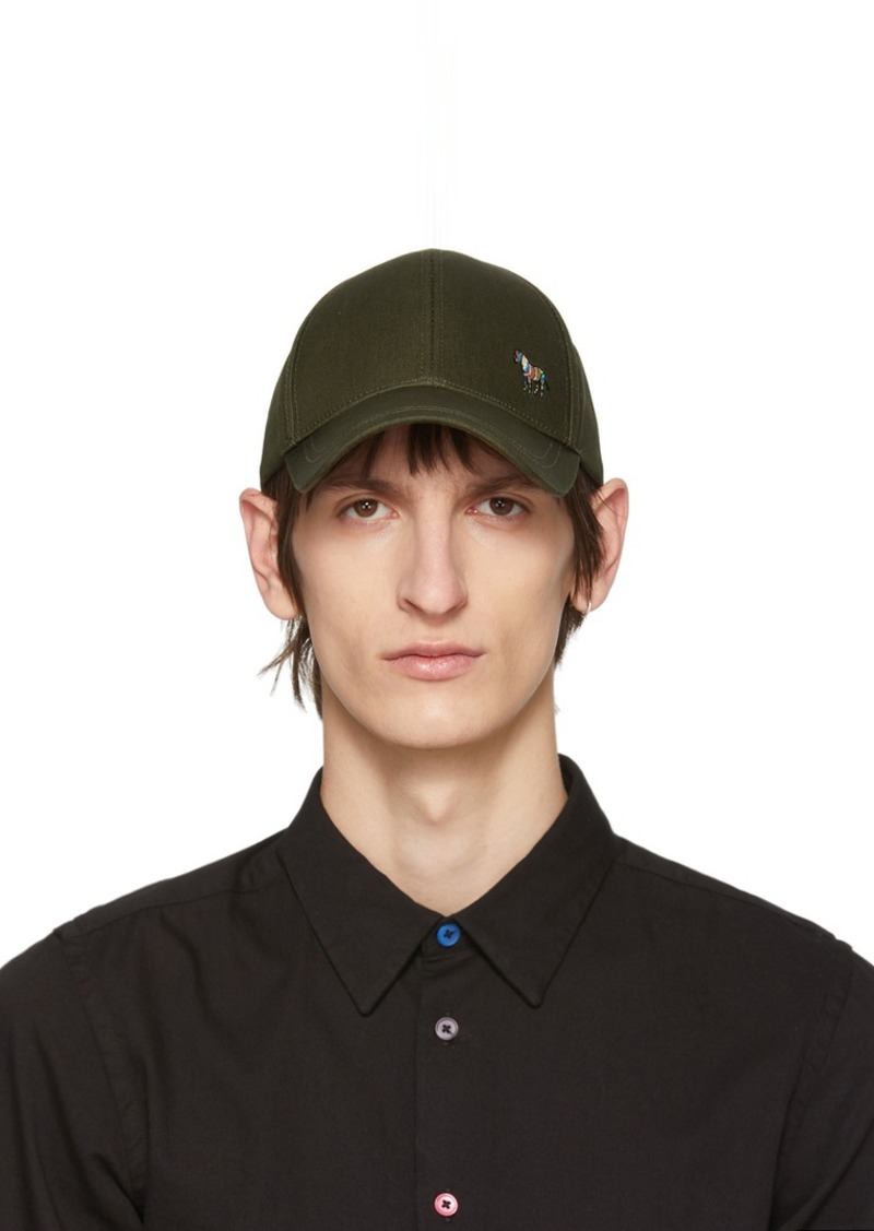 Paul Smith Khaki Cotton Zebra Baseball Cap