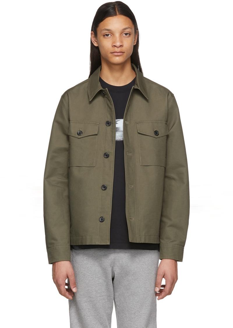 Paul Smith Khaki Military Shirt Jacket