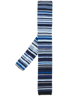 Paul Smith knitted stripe tie
