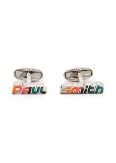 Paul Smith logo embellished cufflinks