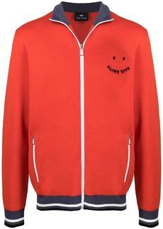 Paul Smith logo-embroidered zip-up jumper