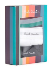 Paul Smith Men's 3-Pack Contrast-Trim Long-Leg Trunks