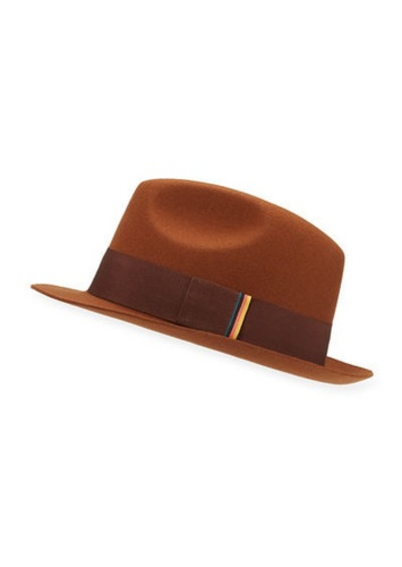 Paul Smith Men's Multi-Tab Wool Trilby Hat