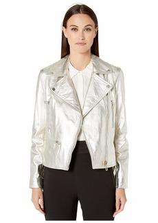Paul Smith Metallic Lamb Leather Jacket