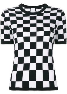 Paul Smith Monochrome check short-sleeve sweater