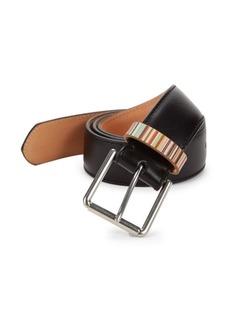 Paul Smith Multi-Stripe Keeper Leather Belt