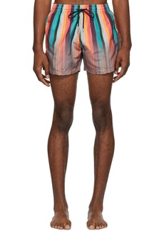 Paul Smith Multicolor Art Clash Classic Swim Shorts