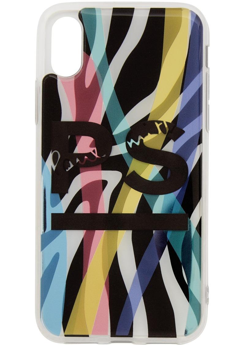 Paul Smith Multicolor Neon Zebra iPhone X Case