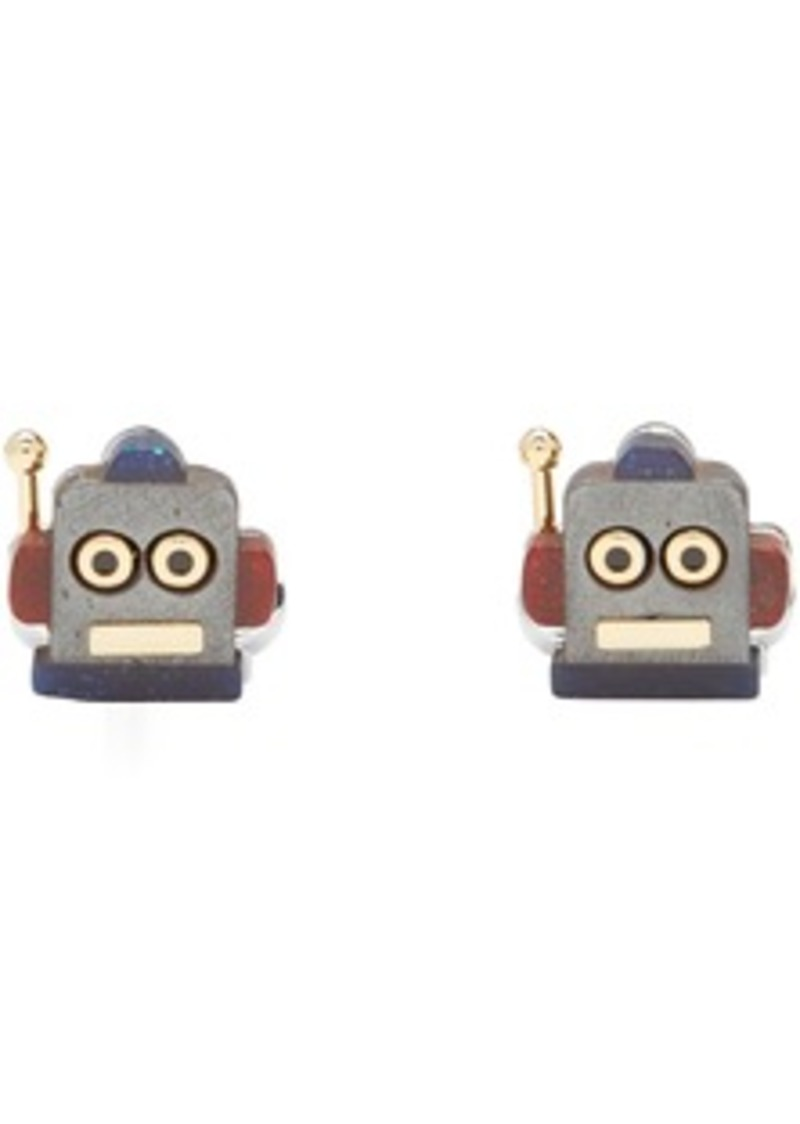 Paul Smith Multicolor Robot Head Toy Cufflinks