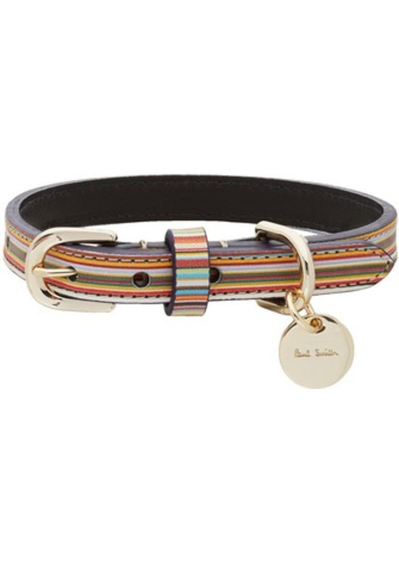 Paul Smith Multicolor Signature Stripe Dog Collar
