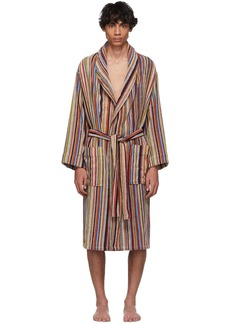 Paul Smith Multicolor Striped Dressing Robe