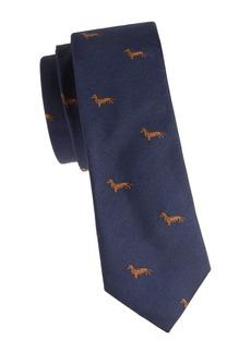 Paul Smith Narrow Dachshund Silk Tie