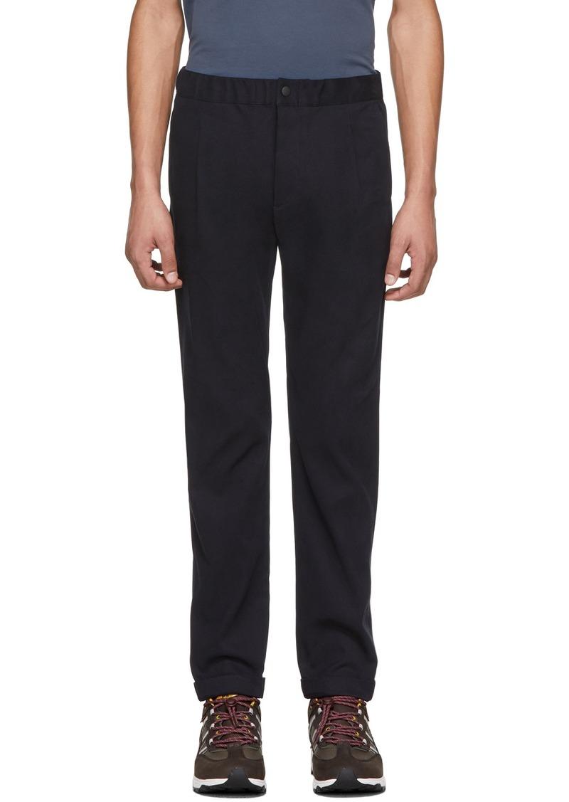 Paul Smith Navy Elasticized Waistband Trousers