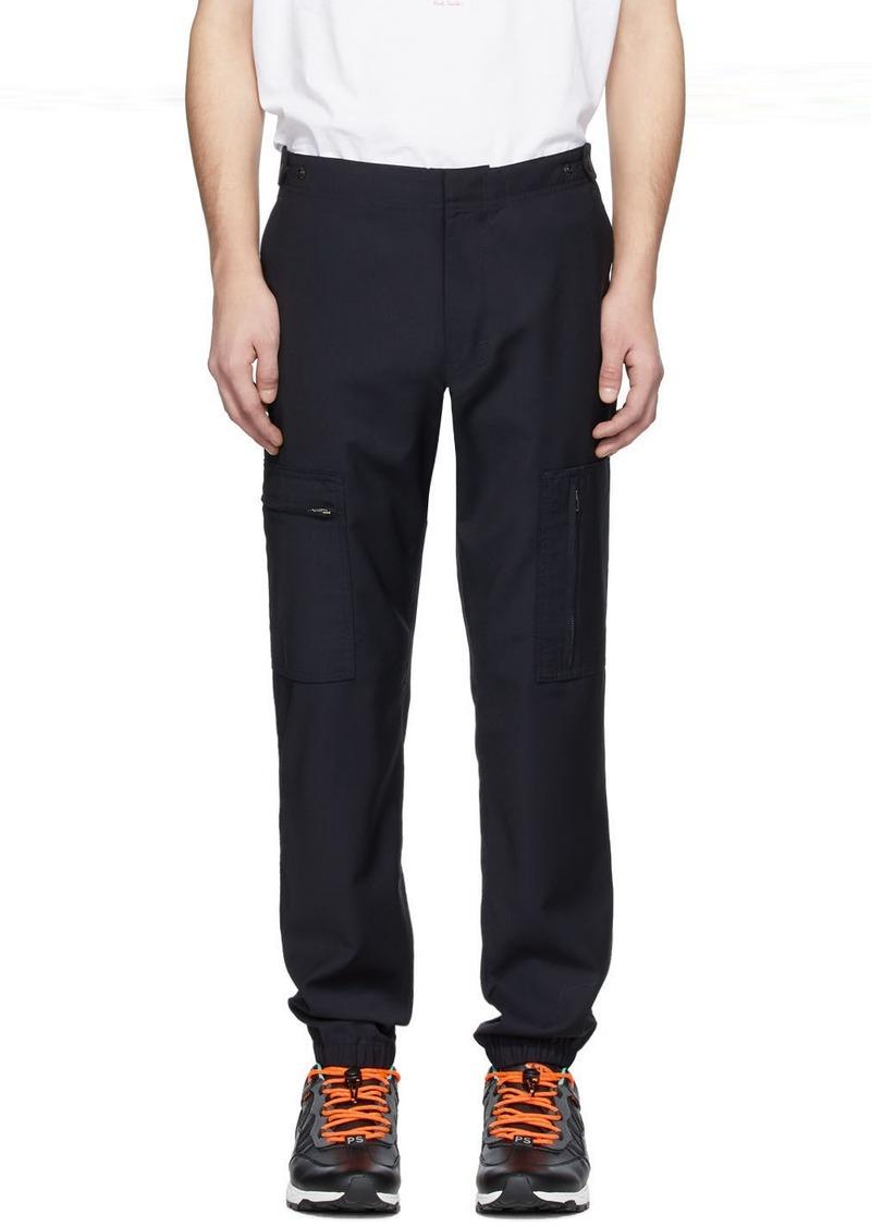 Paul Smith Navy Wool Cargo Pants