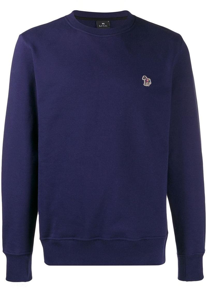 Paul Smith patch long-sleeved sweatshirt