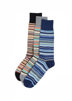 Paul Smith 3 Pack Multi Stripe Socks