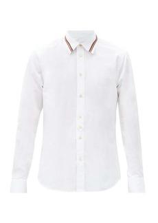 Paul Smith Artist-stripe collar cotton-poplin shirt