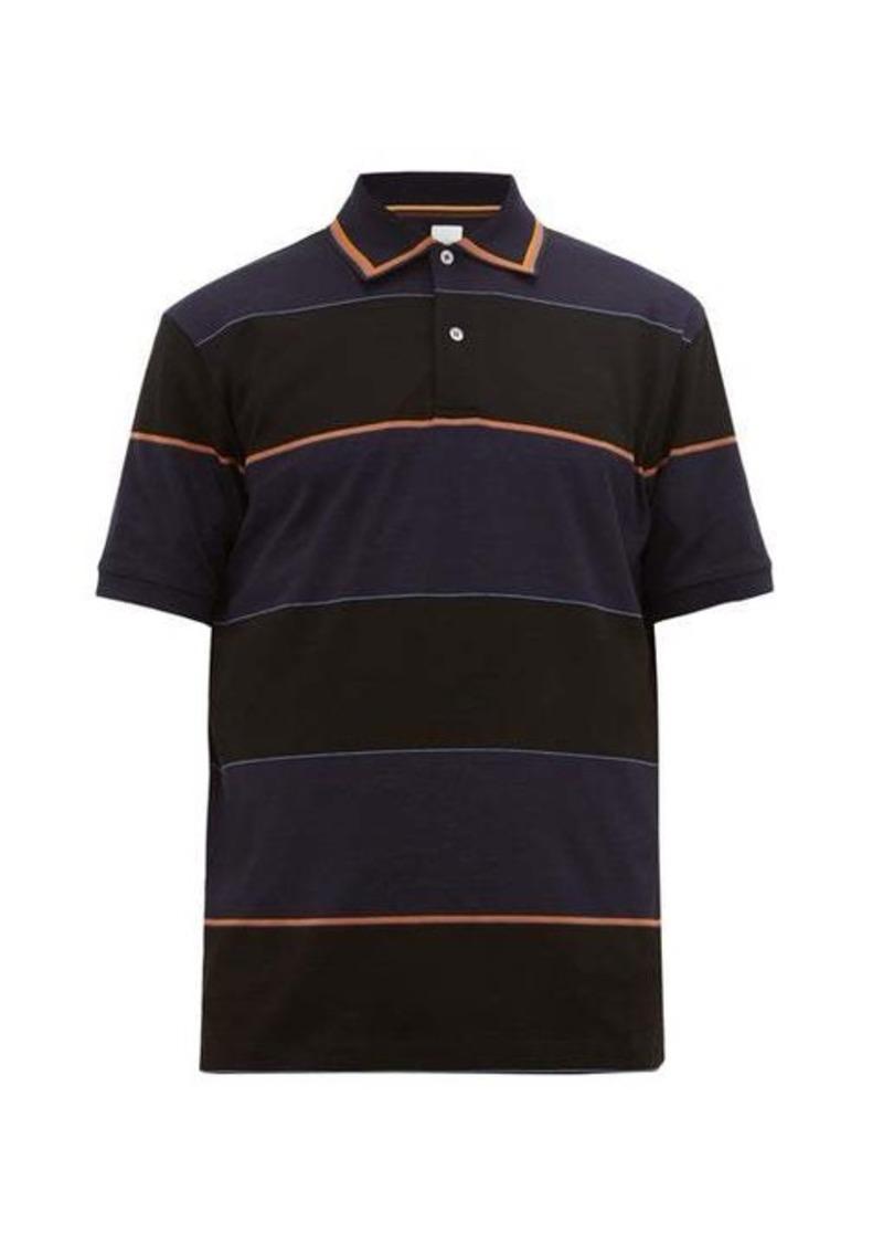 Paul Smith Artist-stripe cotton-piqué polo shirt