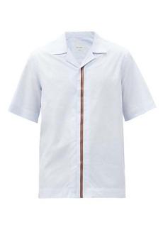 Paul Smith Artist-Stripe cotton-poplin short-sleeved shirt