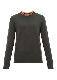 Paul Smith Artist stripe-neck merino wool sweater
