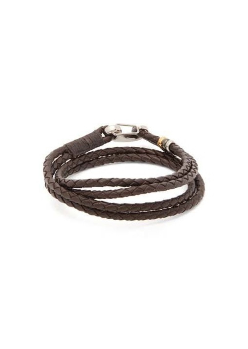 Paul Smith Beaded woven-leather bracelet