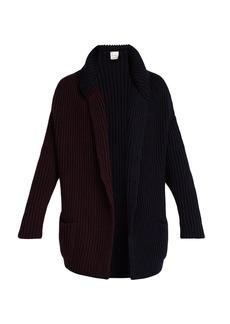 Paul Smith Bi-colour wool-knit cardigan
