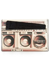 Paul Smith Boom Box Print Calfskin Leather Card Case