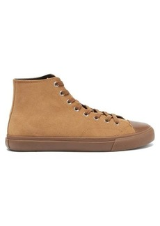 Paul Smith Carver suede high-top trainers