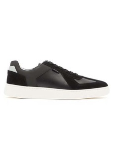 Paul Smith Cross suede-panelled leather trainers