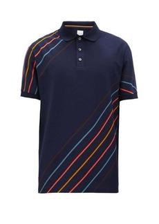 Paul Smith Diagonal-striped cotton-piqué polo shirt