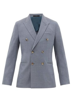 Paul Smith Double-breasted peak-lapel wool blazer