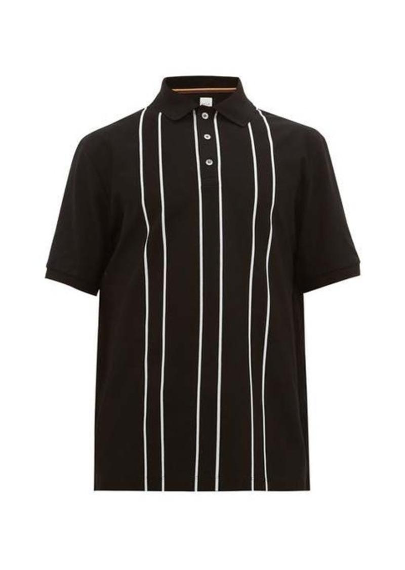Paul Smith Double-stripe cotton-piqué polo shirt