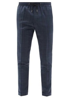 Paul Smith Drawstring check wool-twill trousers