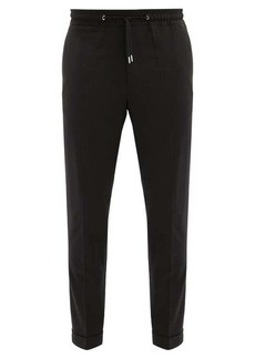 Paul Smith Drawstring-waist tailored wool trousers