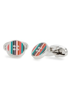 Paul Smith Enamel Button Cuff Links