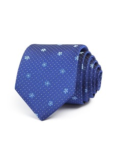Paul Smith Floral & Dot Silk Skinny Tie