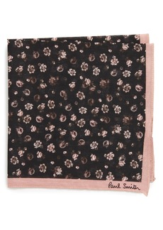 Paul Smith Floral Cotton Pocket Square