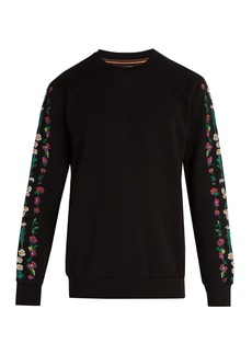 Paul Smith Floral-embroidered cotton-jersey sweatshirt
