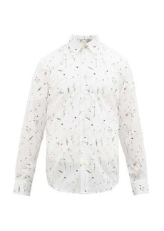 Paul Smith Floral-print cotton-poplin shirt