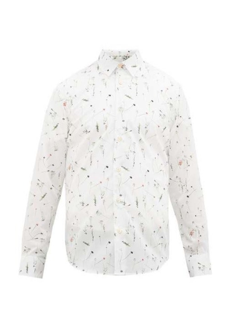 Paul Smith Floral-print cotton-poplin shirt